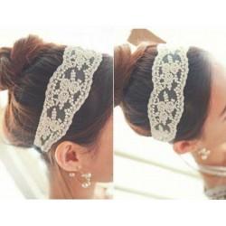 wit kleur haar band met kant