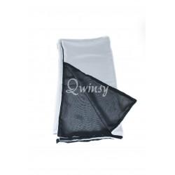 Creppe scarf zwart-wit