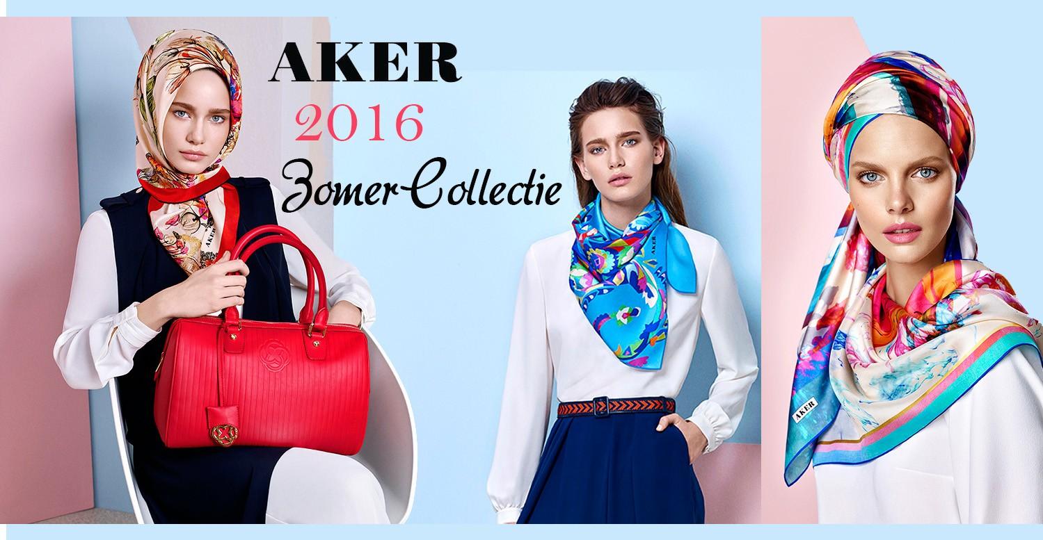 Aker Zijde Scarf -2016 Zomer Collectie